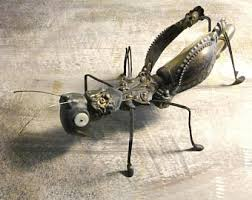 Metal Bugs Garden Decor Insect Sculpture Etsy