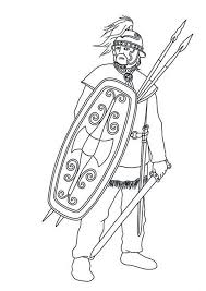 barbaric army ancient rome coloring netart