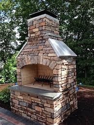 outdoor stone fireplace innovative ideas outside stone fireplace crazy outdoor kits