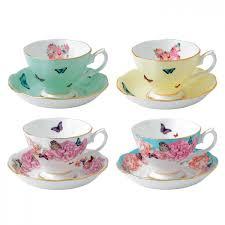 teacup saucer set of 4 miranda kerr for royal albert us
