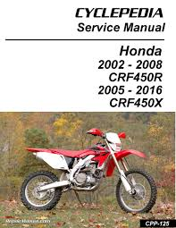 honda crf450r honda crf450x print motorcycle service manual by