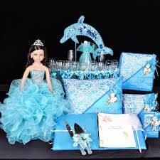 quinceanera packages the sea with dolphin quinceanera package toasting set doll