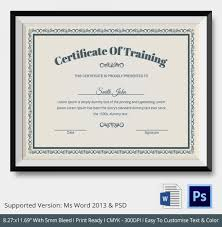 training certificates templates free download training certificate