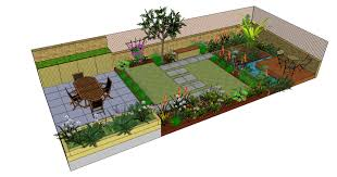 richmond garden design drawn using sketchup by fork garden design