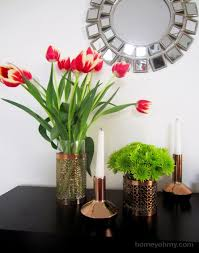 Candle Holders Decorated With Flowers Reuse Old Candle Holders To Compliment Decor Of Your House