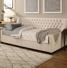 twin daybeds with storage darby home co aron upholstery daybed