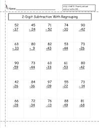 two digit math worksheets easy mathworksheets addition