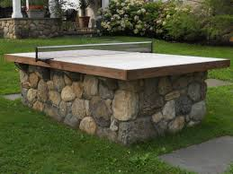 fieldstone ping pong table omg what a great idea for the back