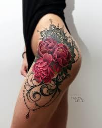 tattoo on leg for women tattoo flower ornament leg tattoo tattoo for women nature