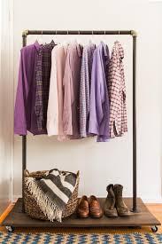 diy clothing storage diy clothing rack how to make a mobile clothing rack hgtv
