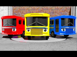 learn colors with funny buses wash and paint youtube