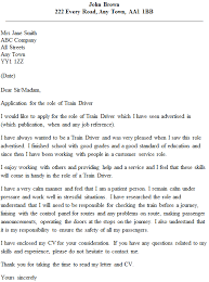 train driver cover letter example icover org uk