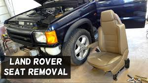 discovery land rover 2000 land rover discovery front seat removal replacement youtube