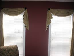 Red Scarf Valance Living Room Marvelous Red Scarf Window Treatment Window