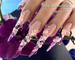 112 best acrylic flowers on nails images on pinterest acrylics