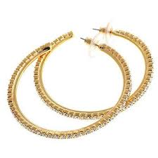 hoops earrings brilliant hoops earrings in silver or gold tone suzannesomers