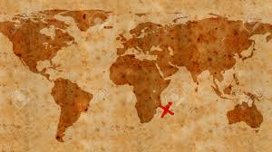 World Treasure Map by Illustration Of An Ancient Treasure Map Texture Stock Photo
