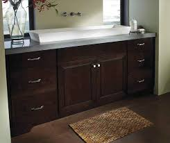 Maple Bathroom Vanity by Bathroom With Chocolate Maple Cabinets By Kemper Cabinetry Maple