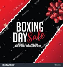 boxing day sale torn wrapping paper stock illustration 539012671