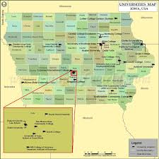 road map of iowa usa list of universities in iowa map of iowa colleges and universities