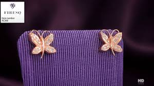 cercei de aur cercei firesq din aur roz de 18kt cu diamante cod ac368