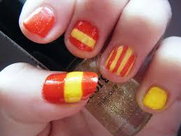 Spain Flag 2014 Spanish Flag Nails Spain Nail Art Designs