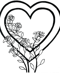 kitty valentines heart coloring pages