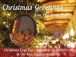 old south church christmas craft fair 12 05 15