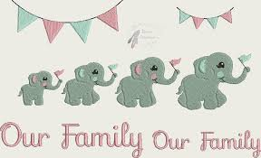 our family elephants set 4x4 titania creations