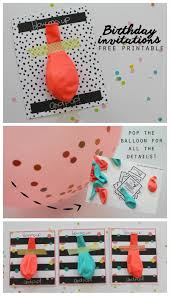 Birthday Card Invitations Ideas Balloon Invitations With Free Printables Unique Birthdays And