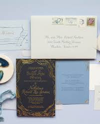 regency wedding invitations navy and gold foil agate inspired wedding invitations