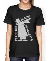graduation shirt spectacular deal on graduated dab womens black high