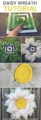 a burlap daisy wreath tutorial perfect for spring wreath