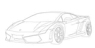 lamborghini aventador drawing outline line cars perovky na zakázku