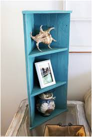 decorative metal shelf bracket small aqua wood corner shelf