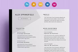 free creative resume templates word free swiss style resume cv