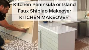how to install peninsula kitchen cabinets diy kitchen island shiplap l kitchen makeover
