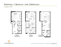 Dartmouth Floor Plans The Horizon Penthouse Suites Horizon Court