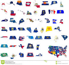 Free State Maps by Usa State Flags On 3d Maps Royalty Free Stock Images Image 34963739