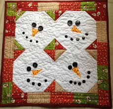 quilted cupcake snowman wall quilt or table runner tablerunners