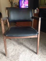 carolina chair table company vintage mid century black vinyl arm desk chair stout chair company