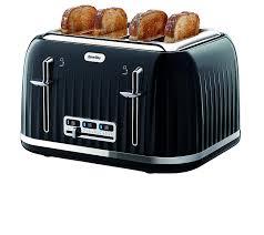 Best Toaster Uk Breville Vtt476 Impressions 4 Slice Toaster Black Amazon Co Uk