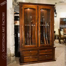 Wood Gun Cabinet Custom Gun Cabinets Wood Furniture Western Gun Display Cabinets