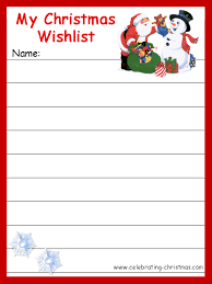 santa gift list christmas printables sized wish list the printable wish