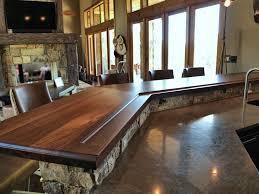 Wood Tops For Kitchen Islands by Devos Custom Woodworking Slab Walnut Wood Countertop Photo
