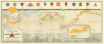 World War Ii Map by The Advance Of 6th Armored Division In World War Ii Maps Donated