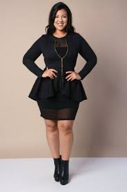 the black dress best 25 plus size peplum ideas on women s plus size