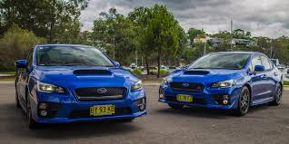subaru wrx turbo 2015 wrx v subaru wrx sti comparison review