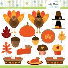 thanksgiving day elements clip set digital elements for