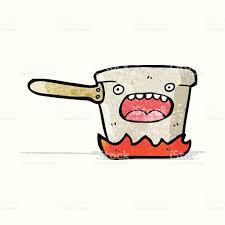 dessin casserole cuisine dessin animé une casserole de cuisine cliparts vectoriels et